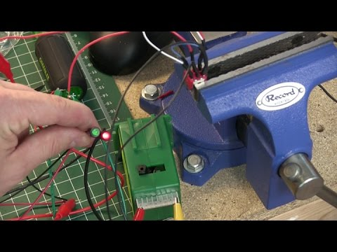 Bench testing Tortoise switch machines  Bench top power supply
