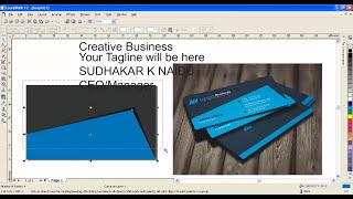 Corel Draw 12-Tutorial - Erstellung einer Visitenkarte - K Sudhakar Naidu