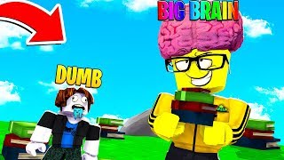 I became the SMARTEST KID *BIG BRAIN* and BECAME TOO POPULAR.. (Roblox)