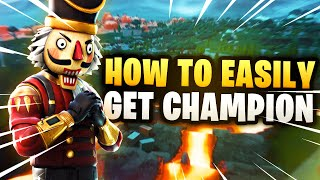 How to EASILY get CHAMPION in Fortnite Arena! (Advanced/Pro Tips for High Points) Division 7 Guide