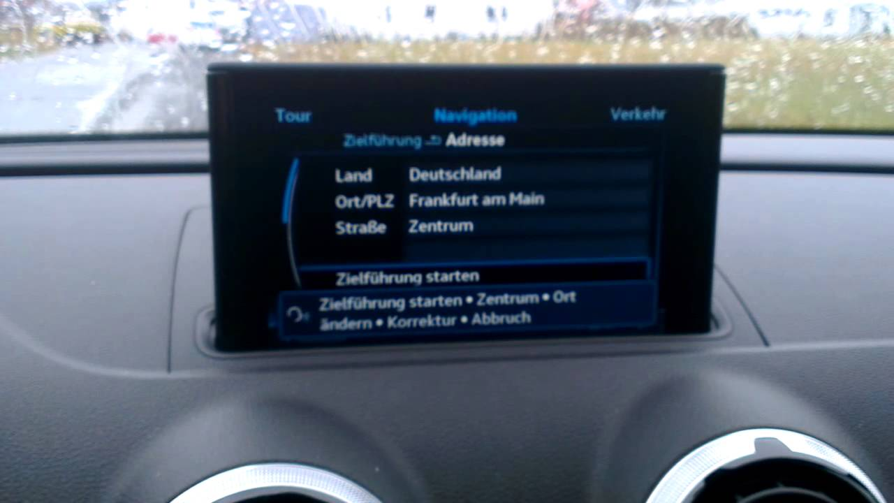 audi a3 sportback mmi navigation plus mit mmi touch navigation youtube. Black Bedroom Furniture Sets. Home Design Ideas