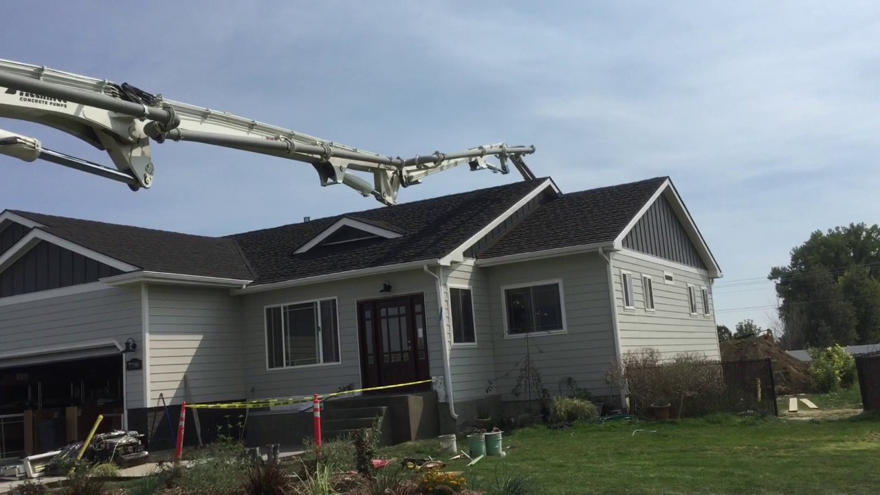 Concrete pump truck almost SMASHES HOUSE