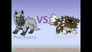 Pokemon Voting lll Round 1: Match 4: Poochyena Vs. Zigzagoon