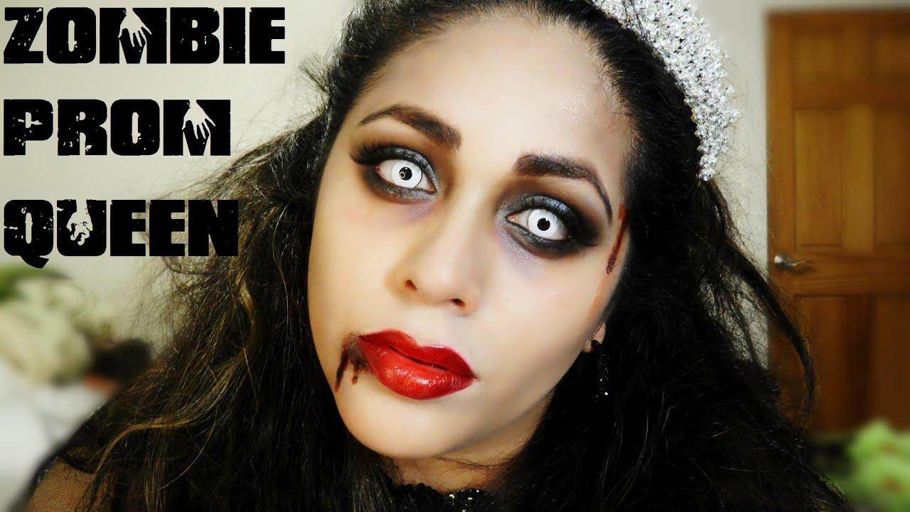 Zombie Prom Queen Bride Halloween Makeup Youtube