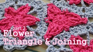 Part 2 of my Crochet Flower Pentagon Set and today I show you how to crochet my Flower Triangle and how to join all your crochet pentagons and triangle ...