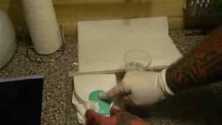 using soap to put on a tattoo stencil