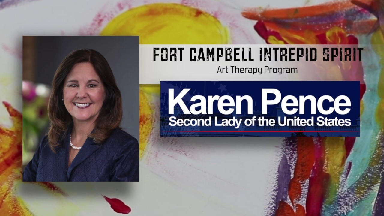 Our Awesome Second Lady, Karen Pence discusses art therapy at Fort Campbell #2020LandSlide