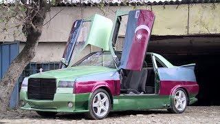 Masallı sakini qeyri-adi bayraq rəngində avtomobil hazırladı