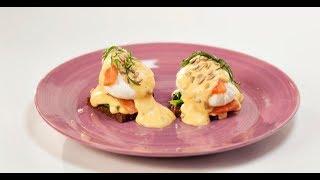 Яйцо Бенедикт с лососем и соусом олландез и яйцо-брюле с копчёным лососем | Маргарита и мастера