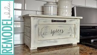 Kitchen Spice Storage Idea: DIY Pull Out Spice Bin for Counter Top