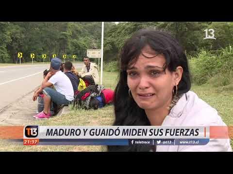 Maduro y Guaidó miden sus fuerzas
