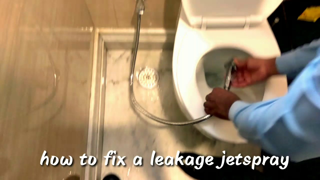 How to Fix water leakage in jetspray - YouTube