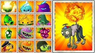 Plants vs. Zombies 2 Mod Every Premium Plant Power Up! vs Balloon Zombie PVZ 2 Primal Gameplay