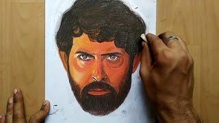Drawing Hrithik Roshan || super 30 movie poster drawing||
