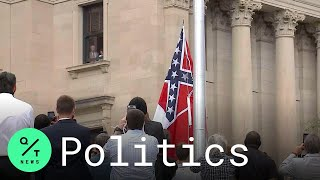 Mississippi's Confederate-themed State Flag Lowered For The Last Time