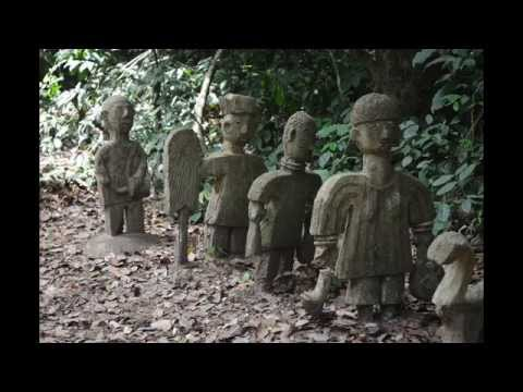 Travel in Nigeria. Osun-Osogbo. Sacred Forest.