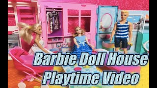 Barbie and Ken doll house playtime video - Kids toys video by COCO TV