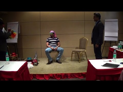 """Fun creative part of """"Rock The Stage: Ultimate Formula"""" Bangalore's Best Public Speaking Workshop"""
