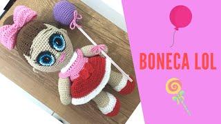 Boneca LOL Amigurumi de Crochê