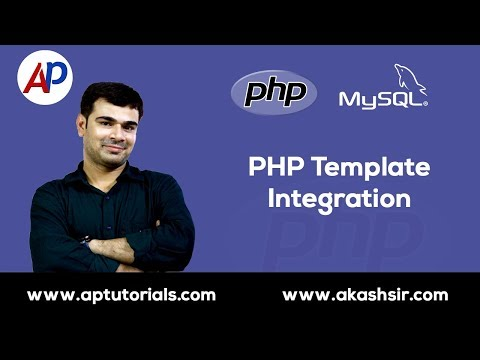 PHP Template Integration   PHP Theme Integration Tutorial Hindi