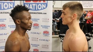 AND THE NEW! - JAY HARRIS v THOMAS ESSOMBA - OFFICIAL WEIGH-IN VIDEO (COMMONWEALTH TITLE)