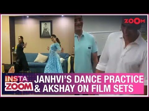 Janhvi Kapoor's dance rehearsals | Akshay celebrates a police officer's birthday | Insta Zoom