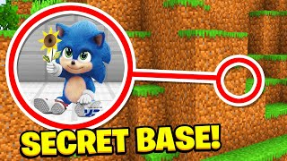 Minecraft : We Found BABY Sonics Secret BASE! (Ps3/Xbox360/PS4/XboxOne/PE/MCPE)