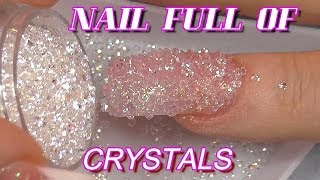REAL TIME NAIL FULL OF CRYSTALS | GLITTER FRENCH MANICURE | ABSOLUTE NAILS