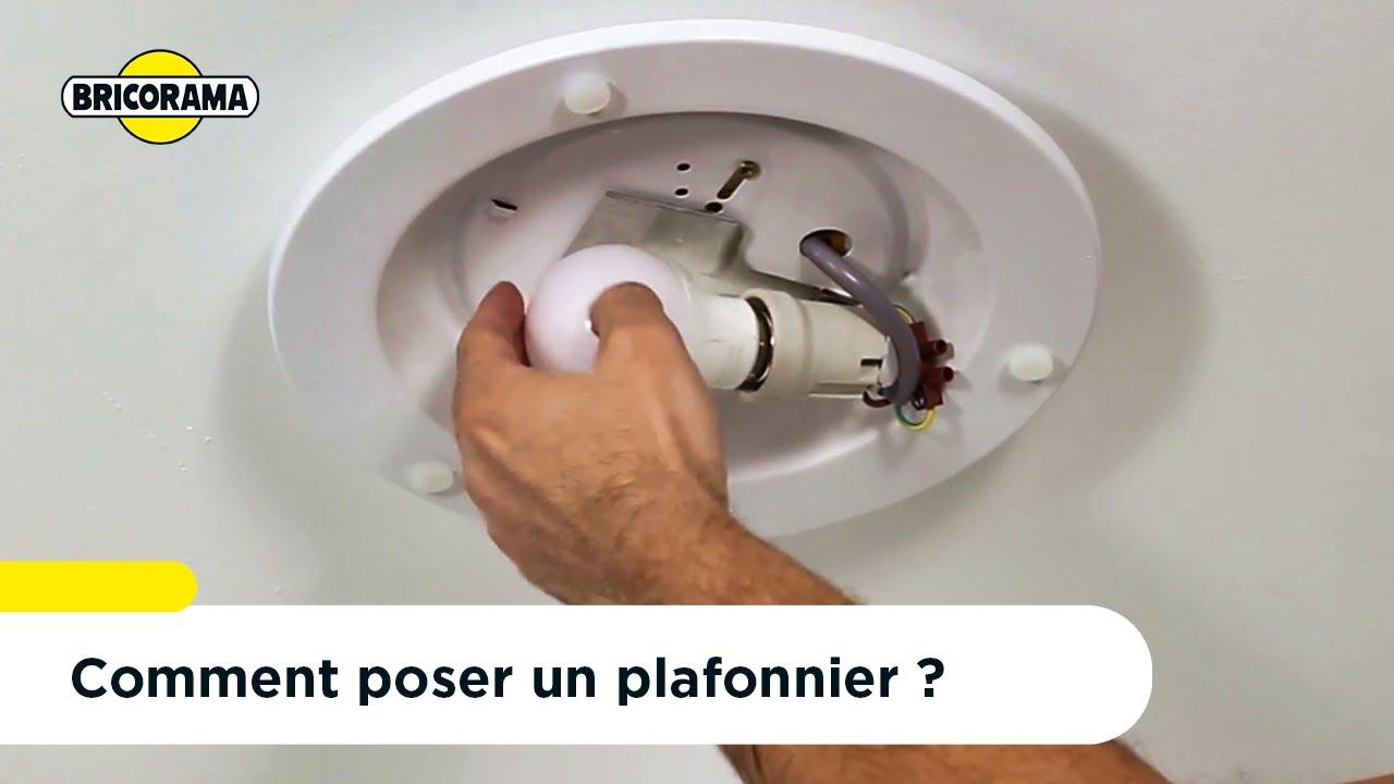 Tuto Poser Un Plafonnier Bricorama