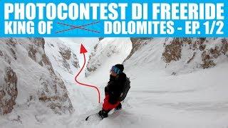 Photocontest di SNOWBOARD FREERIDE tra le Dolomiti!! (ep.1/2) SnowVLOG ITA