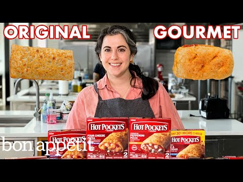 Pastry Chef Attempts to Make Gourmet Hot Pockets | Gourmet Makes | Bon Apptit