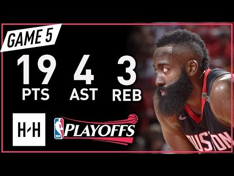 James Harden Full Game 5 Highlights vs Warriors 2018 NBA Playoffs WCF - 19 Pts, 4 Reb, 3 Ast!
