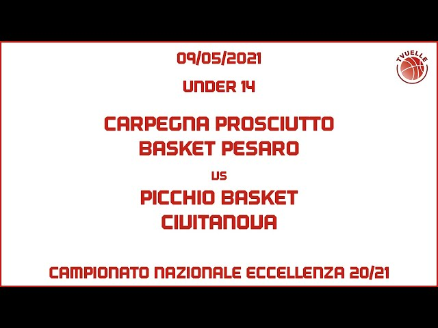 [u14] Carpegna Prosciutto Basket Pesaro - Picchio Basket Civitanova