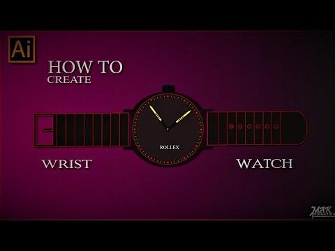 Adobe Illustrator Training How To Create Wrist Watch