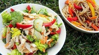 Fresh Chicken And Soba Salads - Memorial Day Picnic | メモリアルデーのピクニック