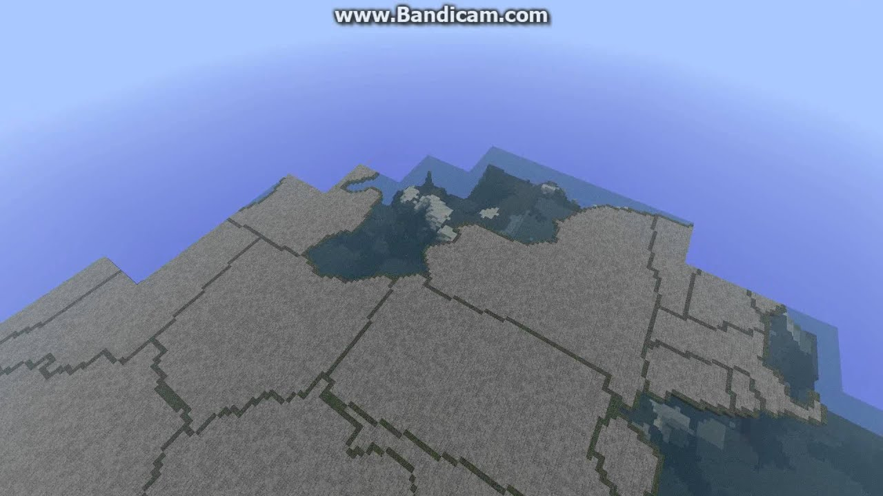 Minecraft Flyover Of The United States YouTube - Minecraft us map