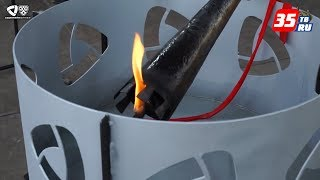 Факел, запалений на домні ''Сварник'', естафетою принесли до Льодового палацу