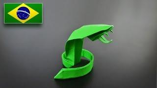 Origami: Serpente 2.0 - Instruções em Português BR