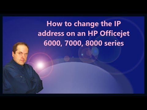 How To Change The IP Address On An HP Officejet 6000, 7000, 8000 Series Printer.MOV