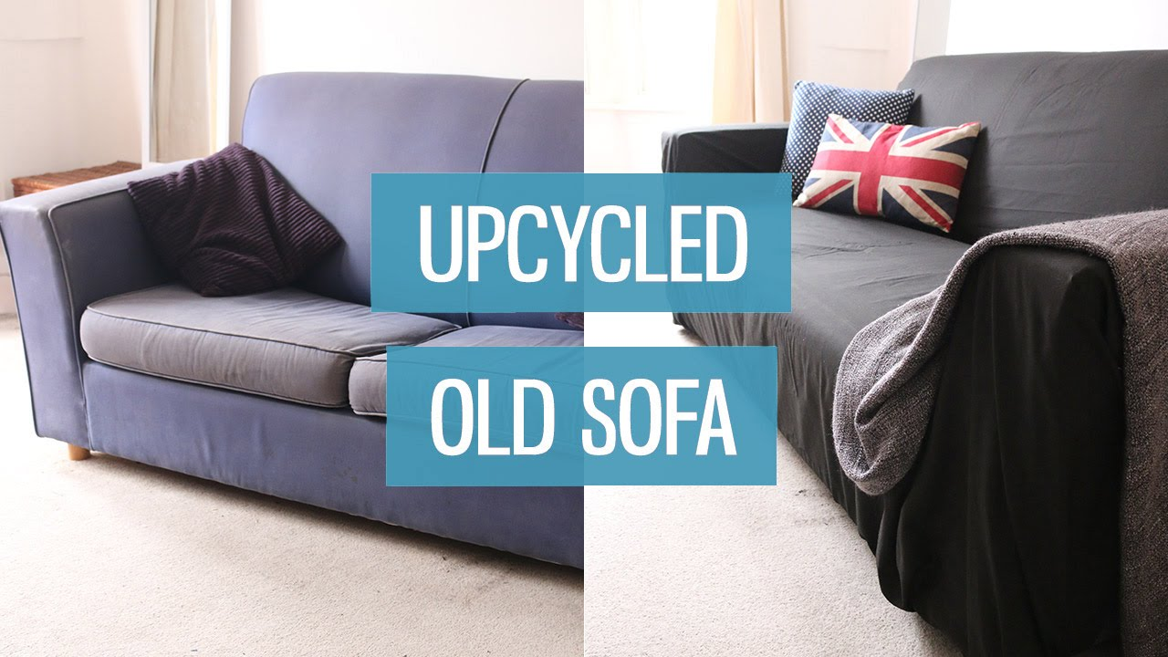armchair cover diy bar stool chairs old sofa makeover – upcycling | charlimarietv - youtube