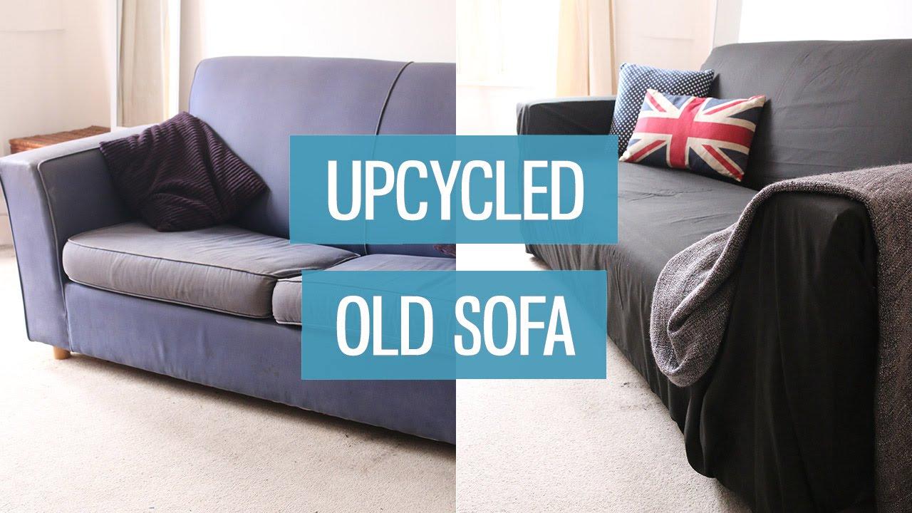 upcycling altes sofa. Black Bedroom Furniture Sets. Home Design Ideas
