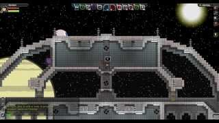 Starbound - Spacestation (work in progress) and main Base