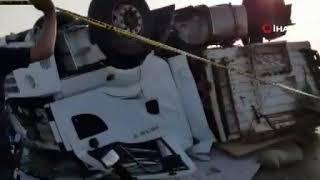 Feci kaza anı kameralarda