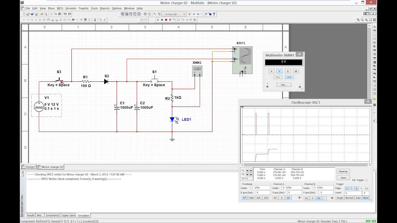 MultiSim LED Flashlight Simulation 01  YouTube