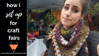 HOW TO SET UP FOR A CRAFT FAIR: Tips on how to set up for a successful craft show or handmade market