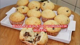 Damla çikolatali yumusacik muffin
