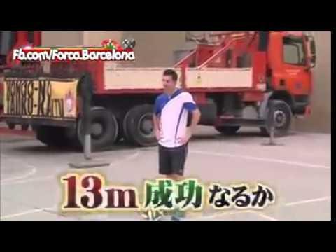Lionel Messi rompe récord mundial en la televisión japonesa levantar la pelota a 18 metros
