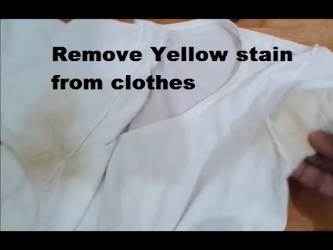 Yellow stain buzzpls com for Remove armpit stains from colored shirts