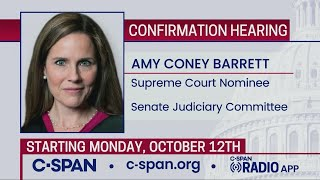Confirmation hearing for Supreme Court nominee Judge Amy Coney Barrett (Day 1)