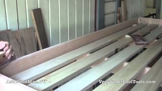 37 How To Build A Bed • Trimming Ends Flush, Rounding Over Slats